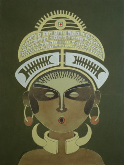 The charm of tribal woman   a painting by vernssage art gallery vernssage treniq 1 1503216137798