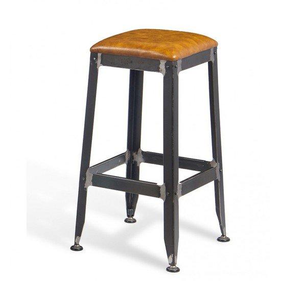 Vintage industrial rustic leather seat bar stool shakunt impex pvt. ltd. treniq 1 1503552796553