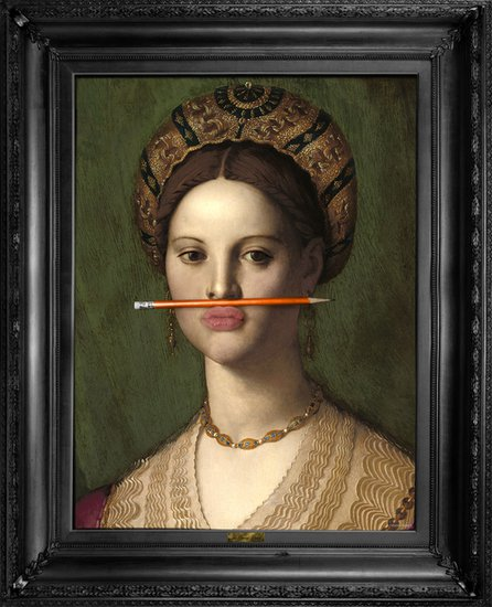 'the orange pencil' canvas mineheart treniq 1 1503846396158