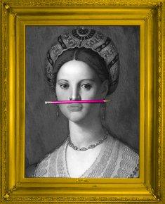 'the-Pink-Pencil'-Canvas_Mineheart_Treniq_0