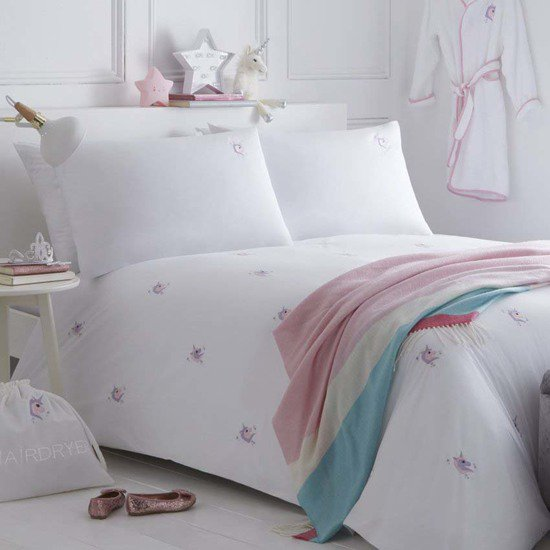 Unicorns organic cotton duvet cover and pillowcase collection the fine cotton company treniq 1 1504161386052