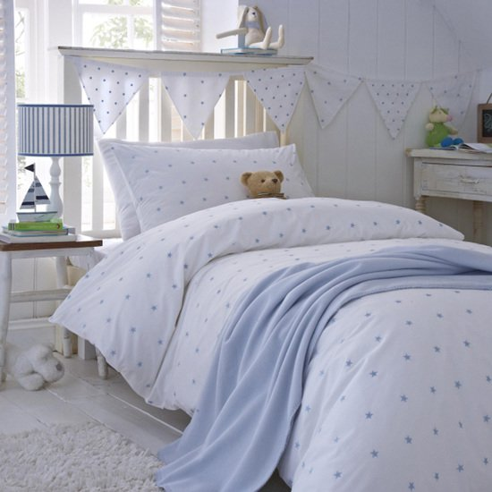 Stars blue organic cotton duvet cover and pillowcase collection the fine cotton company treniq 1 1504163793196