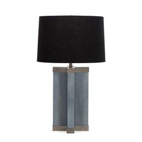 Baby-Blue-Shagreen-Lamp-(Semi-Stainless-Steel-Hardwire)_Nellcote_Treniq_0