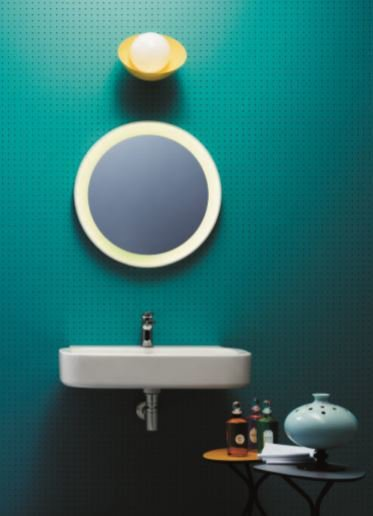 Glaze wall hung basin brass   clay treniq 1 1504461167922
