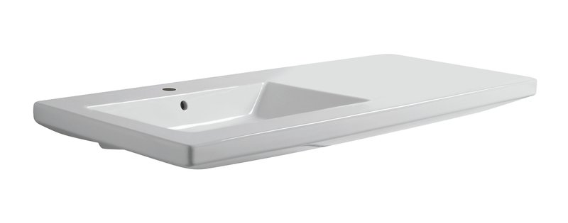 Thin 120cm wall hung basin brass   clay treniq 1 1504462019347