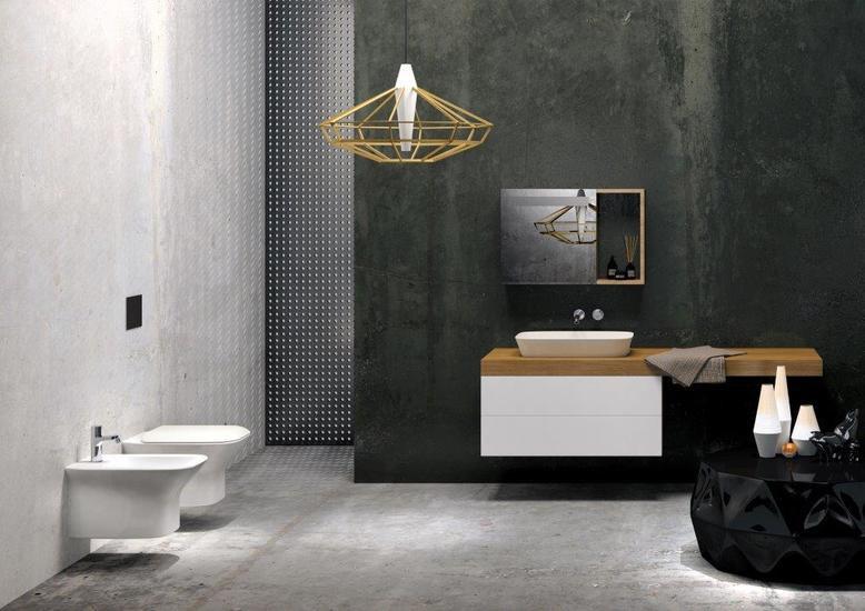 Prua rimless wall hung wc brass   clay treniq 2 1504463505768