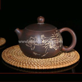 Chinese-Nixing-Lotus-Flower-Carving-Xishi-Pottery-Tea-Pot-Pure-Handmade-Tea_Nixing-Pottery_Treniq_0