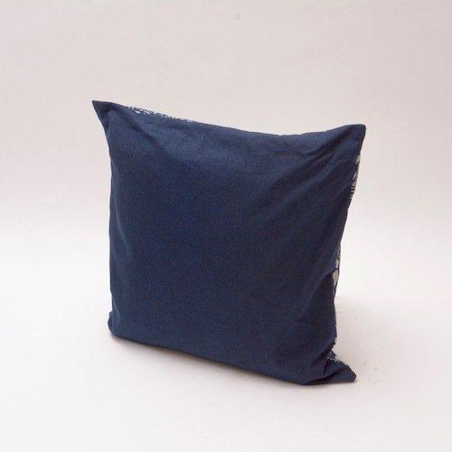 Natural indigo floral pattern cushion  bluehanded ltd treniq 1 1504737928308