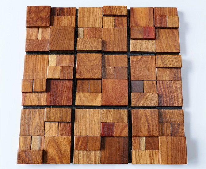 Reclaimed Wood Tile Wall Covering Wall Tiles Wood Mosaic Magnificent Decorative Wood Wall Tiles