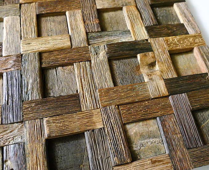 Rustic wall tiles  wood mosaic  wall covering panels  cladding  tiles wood mosaic ltd treniq 1 1504822099491