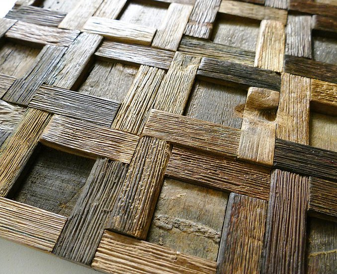 Rustic wall tiles  wood mosaic  wall covering panels  cladding  tiles wood mosaic ltd treniq 1 1504822099497