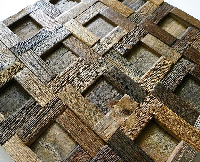 Rustic wall tiles  wood mosaic  wall covering panels  cladding  tiles wood mosaic ltd treniq 1 1504822099506