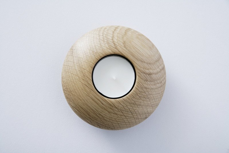 Owan oak tea light holder   small design bros treniq 1 1505295201795