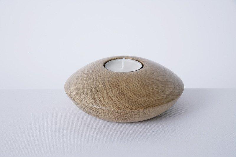 Owan oak tea light holder   medium  design bros treniq 1 1505295434301