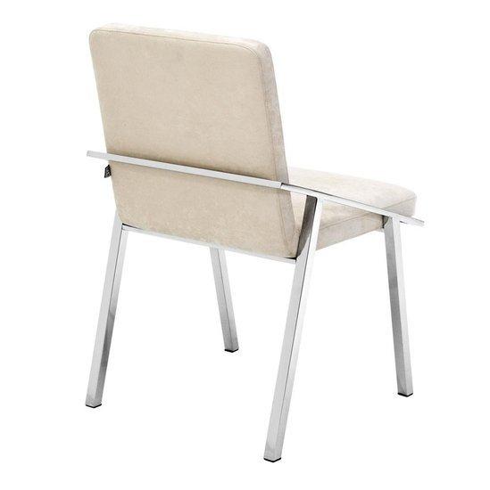 Ecru velvet chair   eichholtz reynolds eichholtz by oroa treniq 1 1505474454707