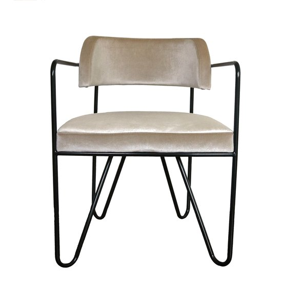 Peak dining chair   black legs   velvet  atelier lane treniq 1 1505519779098