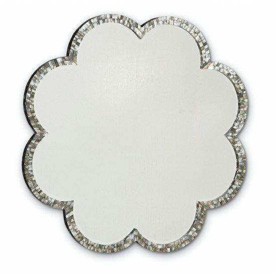 Indian mother of pearl flower shape mirror frame shakunt impex pvt. ltd. treniq 1 1505719971407