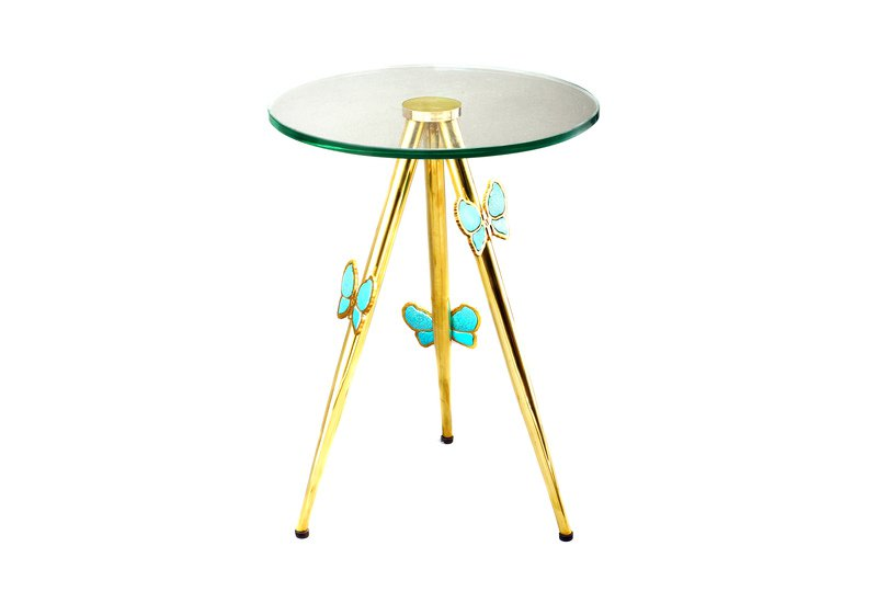 Butterfly side table aurum treniq 2