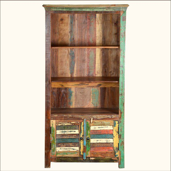 Old reclaimed wood open book shelf shakunt impex pvt. ltd. treniq 1 1505805401707