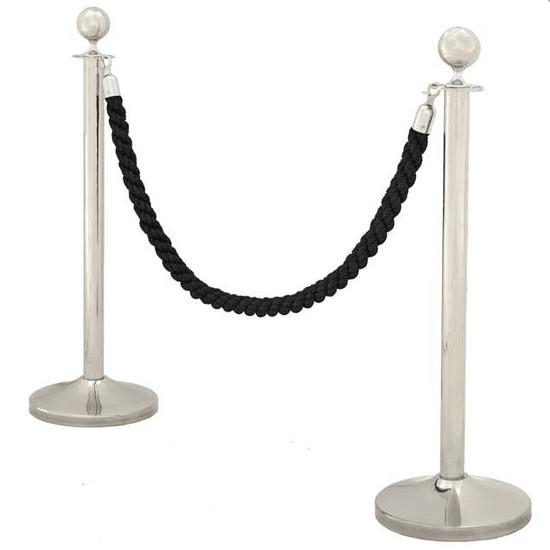 Stanchion post with black cord (set of 2)   eichholtz eichholtz by oroa treniq 1 1505813750804