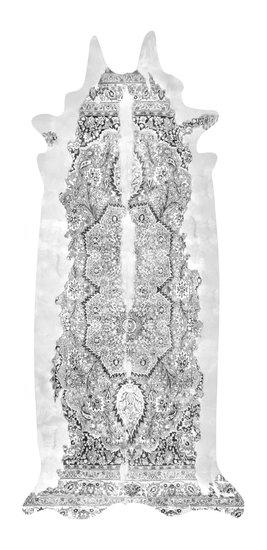 Super long grey persian cowhide rug mineheart treniq 1 1506275057654