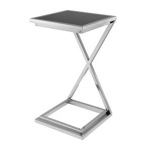 Black Glass Side Table | Eichholtz Cross