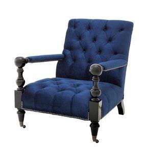 Blue Lounge Chair   Eichholtz Castel
