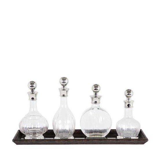 Glass decanter set of 4   eichholtz armagnac eichholtz by oroa treniq 1 1506452565592