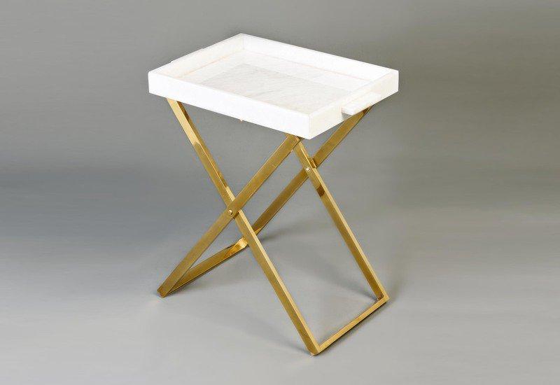 Folding tray side table aurum treniq 1