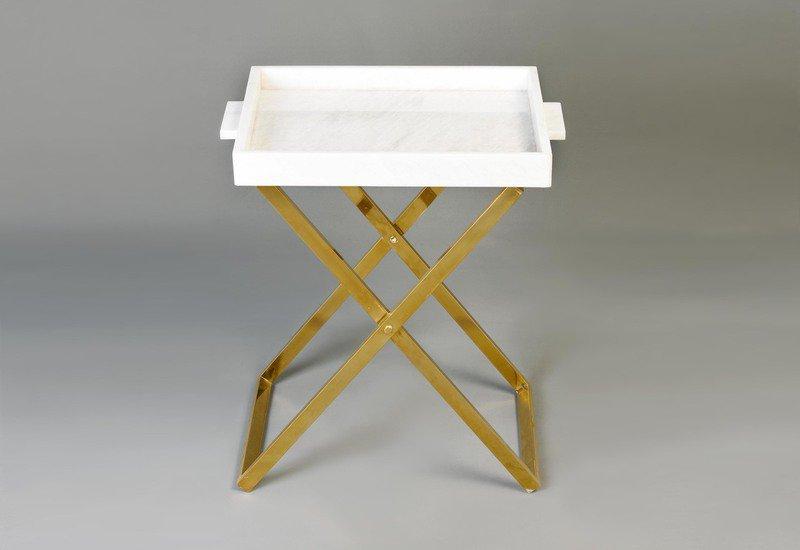 Folding tray side table aurum treniq 2