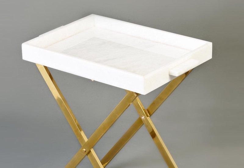 Folding tray side table aurum treniq 3