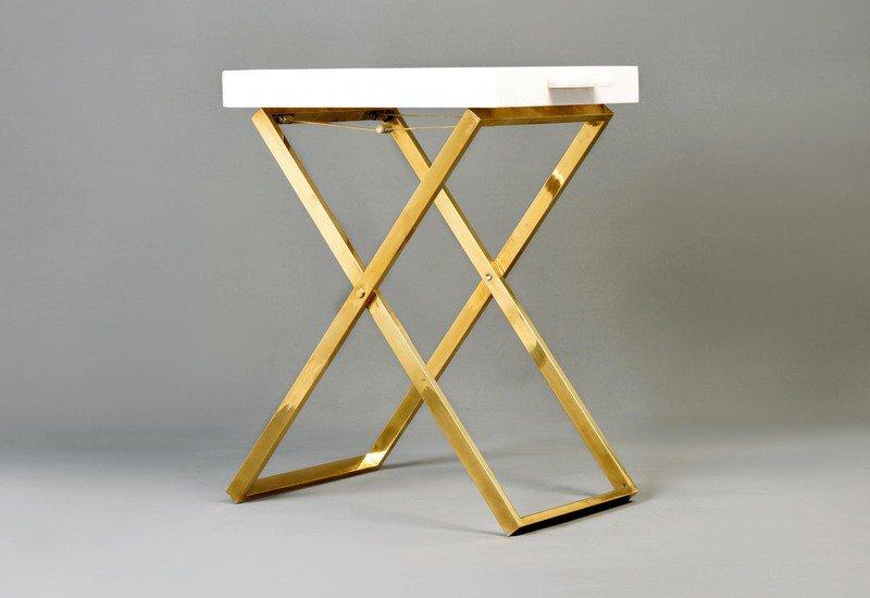 Folding tray side table aurum treniq 5