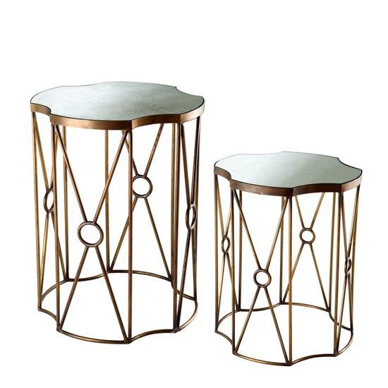 Glass side table (set of 2)   eichholtz sun eichholtz by oroa treniq 1 1506842632719