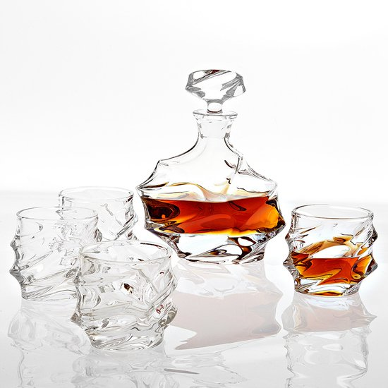 Glass decanter set of 5   eichholtz gatsby eichholtz by oroa treniq 1 1506906436926