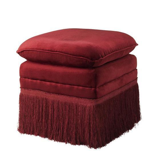 Red fabric stool   eichholtz rochas eichholtz by oroa treniq 1 1506926031307