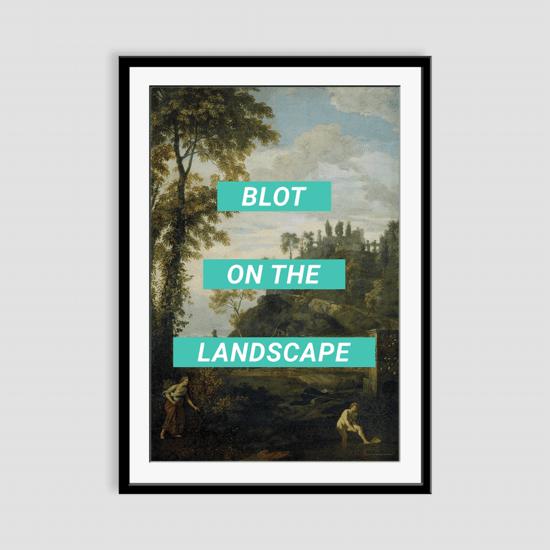 Blot on the landscape framed art print prince   rebel treniq 1 1506967769848