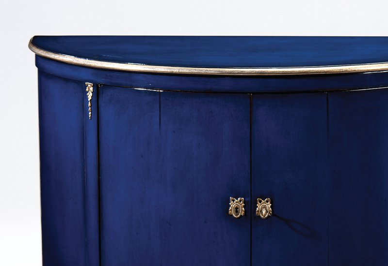 Blue wood cabinet decorative crafts treniq 3