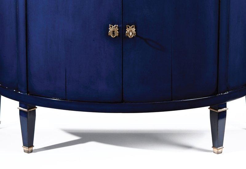 Blue wood cabinet decorative crafts treniq 4