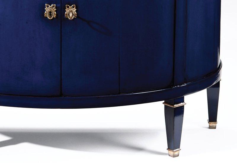 Blue wood cabinet decorative crafts treniq 5