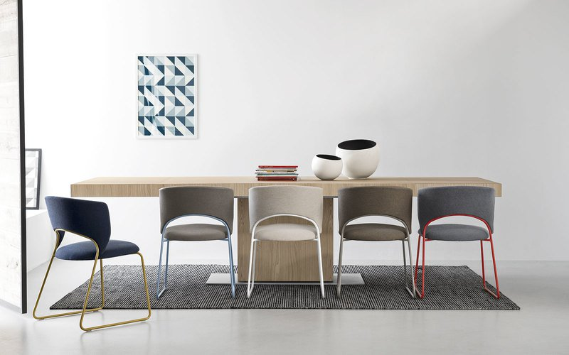 Duffy metal chair with large seat by calligaris fci london treniq 1 1507712982412