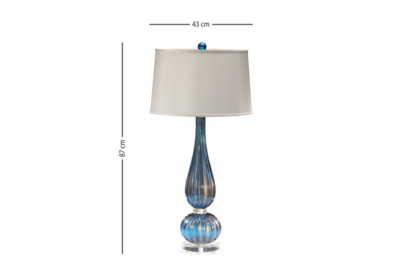 Classic venetian glass table lamp decorative crafts treniq 5