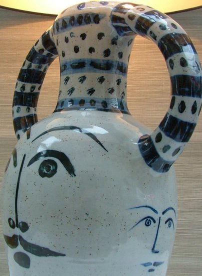 Hilaire blue hand painted ceramic table lamp kinkatou treniq 1 1507908994161