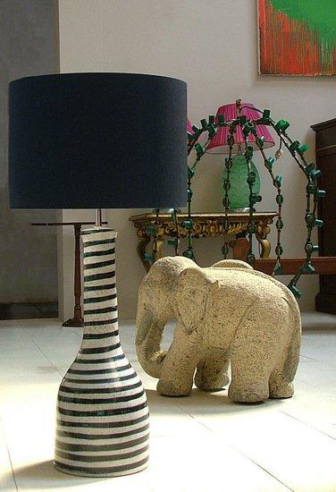 Soho blue handpainted ceramic lamp kinkatou treniq 1 1507915466554