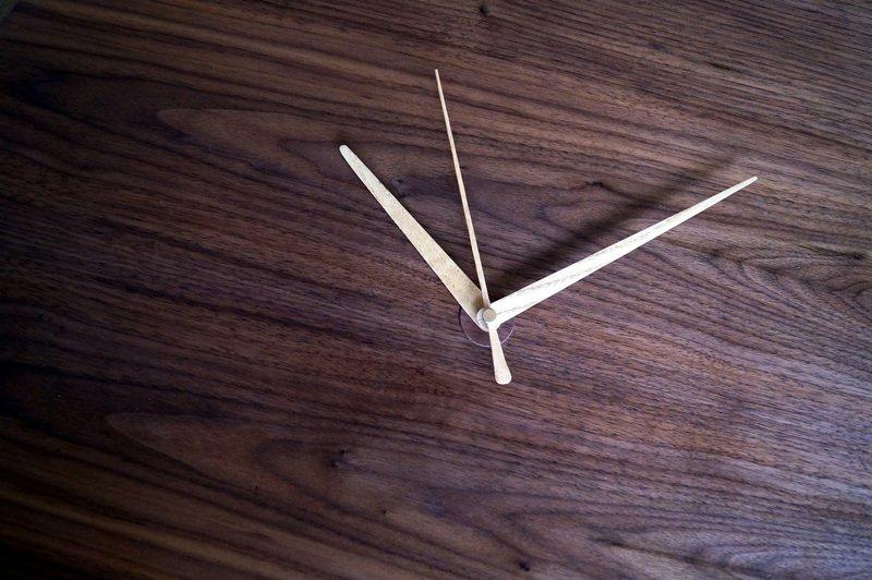 Circle clock   walnut wall clock   handmade ash hands   silent sweep liv cornall design treniq 1 1507923563521