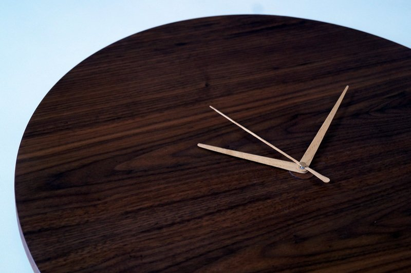 Circle clock   walnut wall clock   handmade ash hands   silent sweep liv cornall design treniq 1 1507923563522