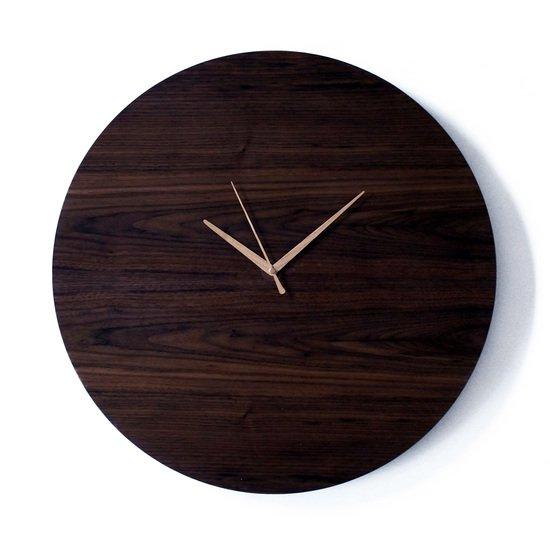 Circle clock   walnut wall clock   handmade ash hands   silent sweep liv cornall design treniq 1 1507924319746