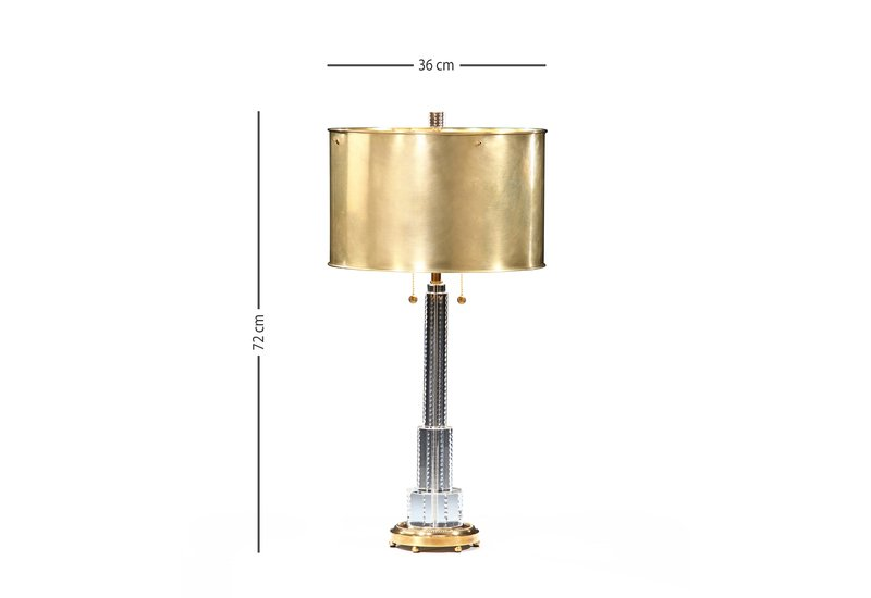 Crystal table lamp brass decorative crafts treniq 5