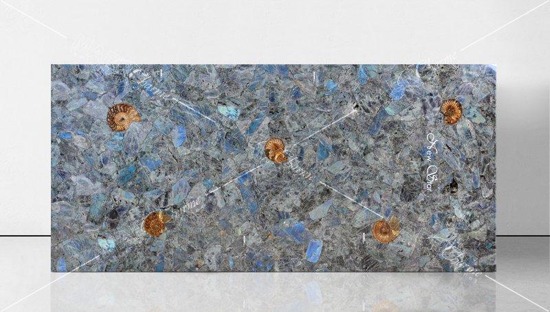 Labradorite blue with ammonites maer charme treniq 1 1508322173754