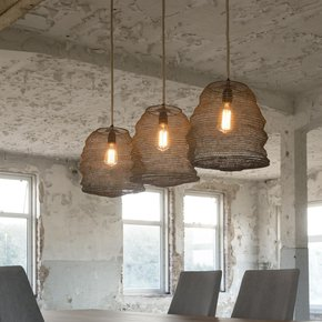 Trio-Of-Antiqued-Bronze-Hanging-Pendant-Lamps._Elderflower-Lane_Treniq_0