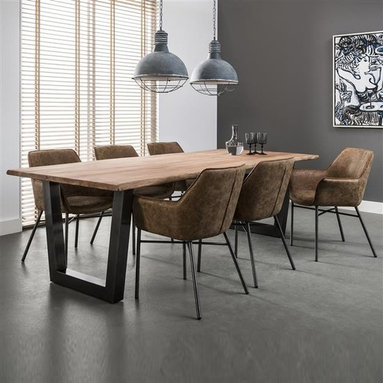Table Bois Metal Design: Large Wooden Dining Table Industrial By Elderflower Lane